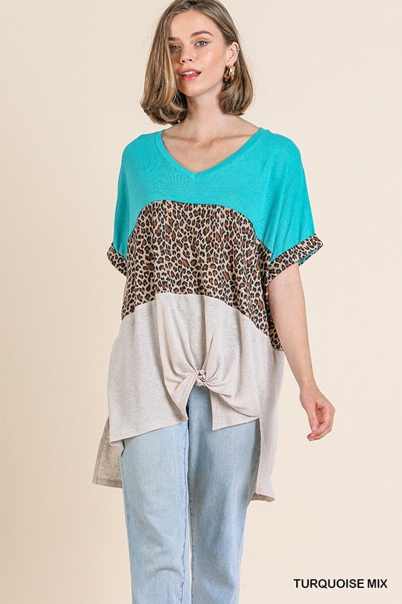 Cool Leopard Knot Top