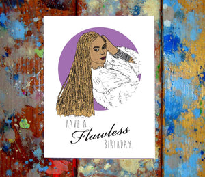 Beyonce Birthday Card
