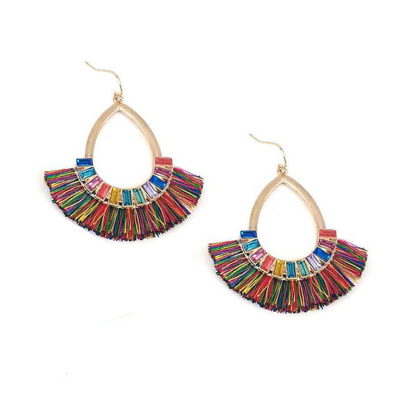 Fiesta Stone Teardrop Earrings