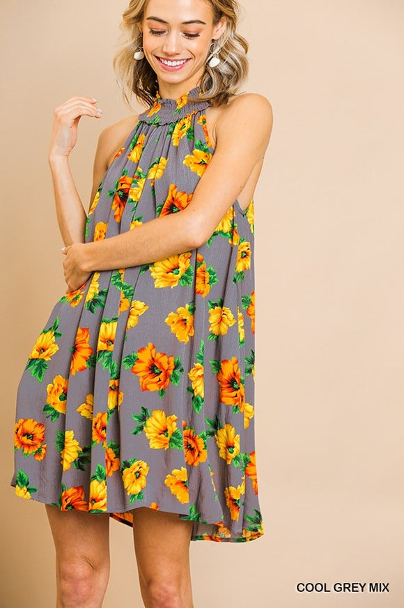 Franklin Floral High Neck Dress