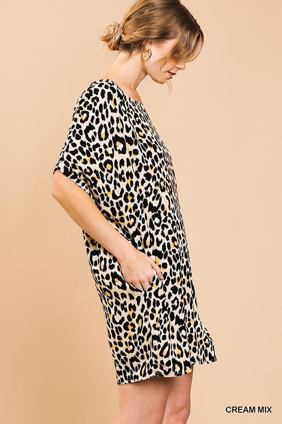 Lindale Leopard Shift Pocket Dress