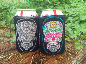 Day of the Dead Skull Custom Can Holder