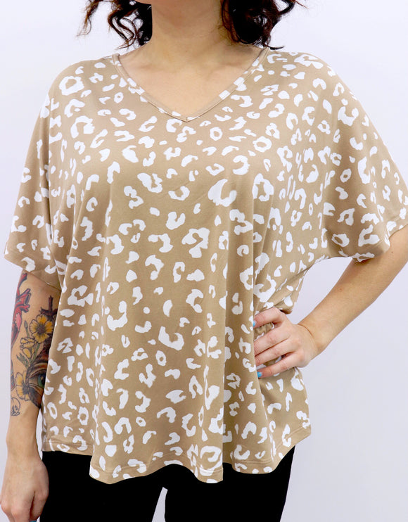 Queen Size Holy Latte Leopard Top