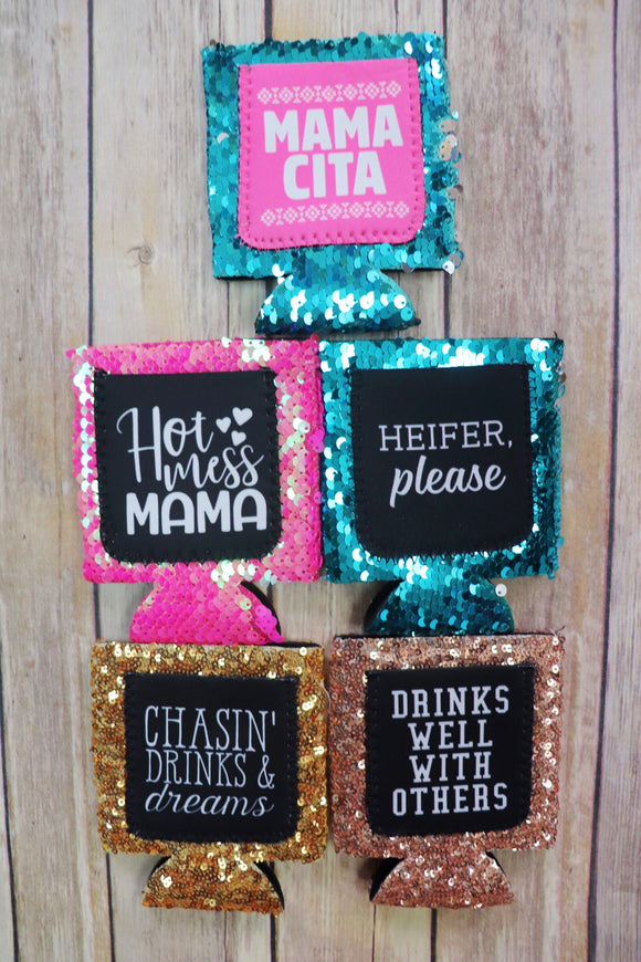 Sweet Sequins Pocket Can Holder [All Styles]