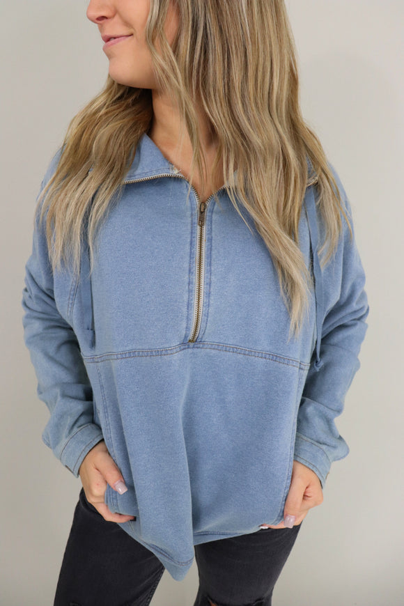 Denim Blue Pullover