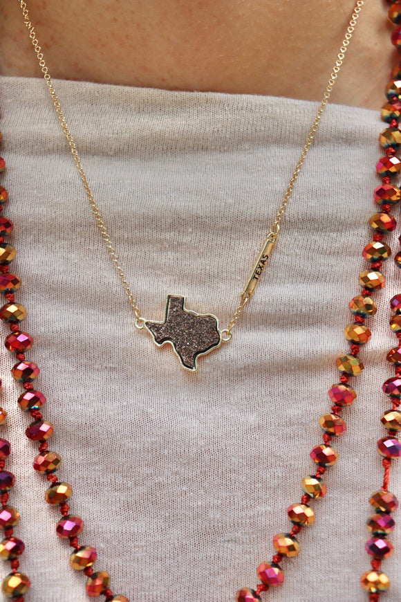 Double Druzy Texas Necklace Set [All Colors]