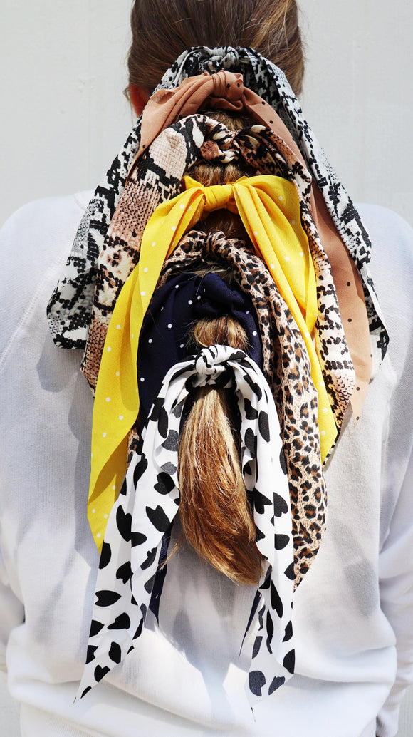 Printed Scarf Tie Scrunchies [All Colors]