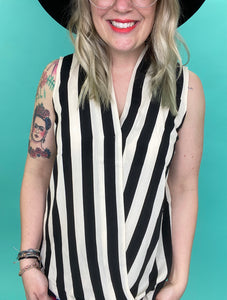 Sandy Striped Sleeveless Top