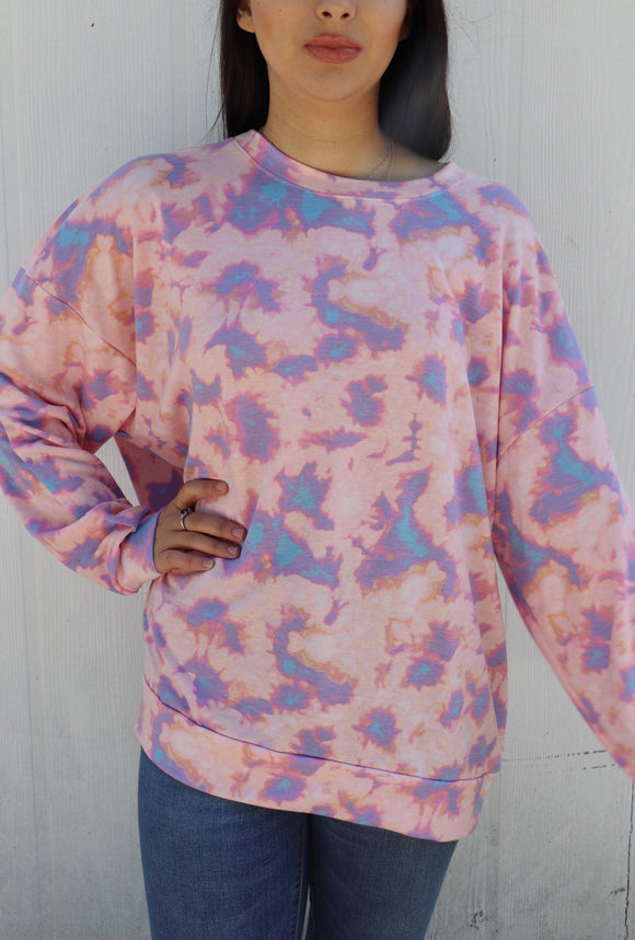 Cotton Candy Tie-Dye Top