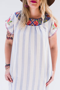 Last Call Eva Embroidered Dress