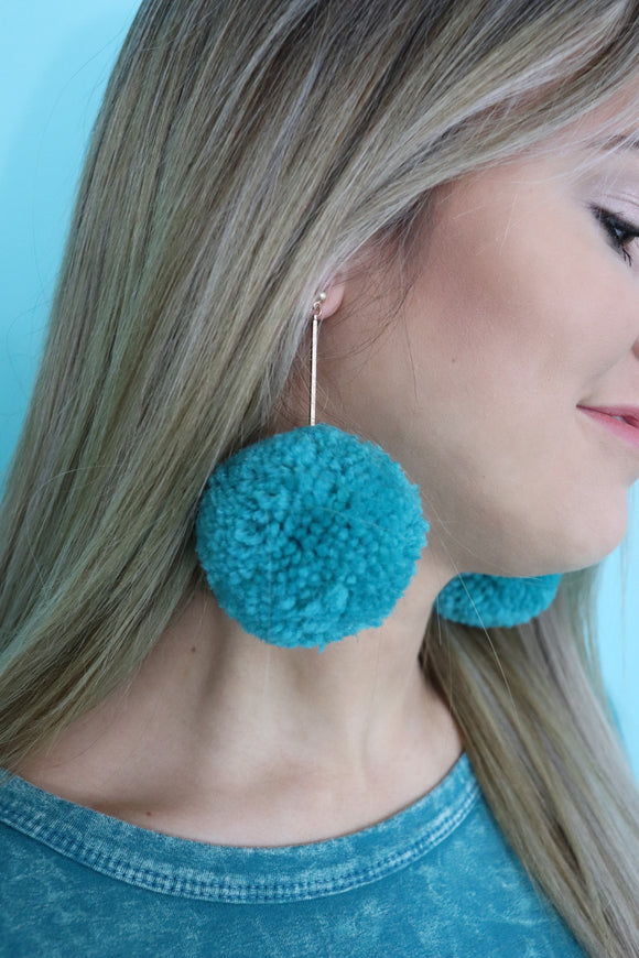 Panhandle Pom Earrings [4 Colors]