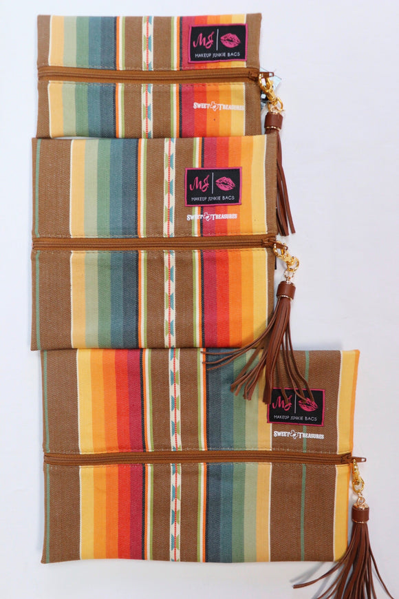Sol Serape Makeup Junkie Bags [5 Sizes]