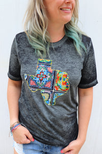 Fiesta Tiles Acid Wash Tee