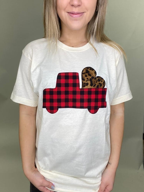 Truck & Heart Tee [Buffalo Plaid Mix]