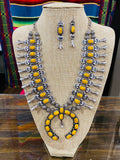 Yellowstone Squash Blossom Necklace Set