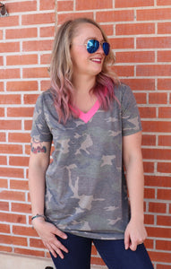 Candied Camo Top