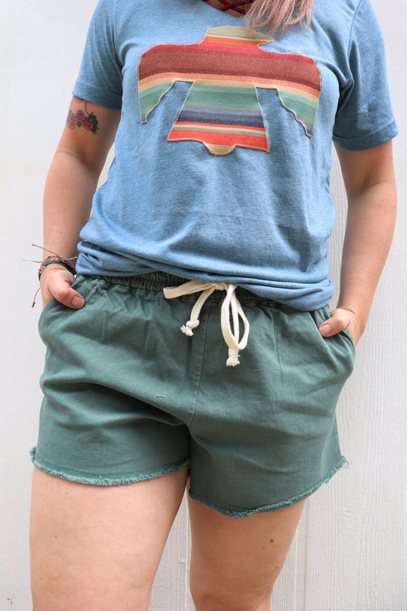 Caprock Chino Drawstring Shorts [Teal]
