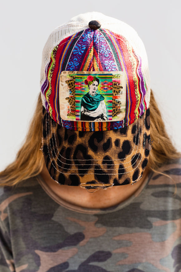 Leather Frida Serape Hat