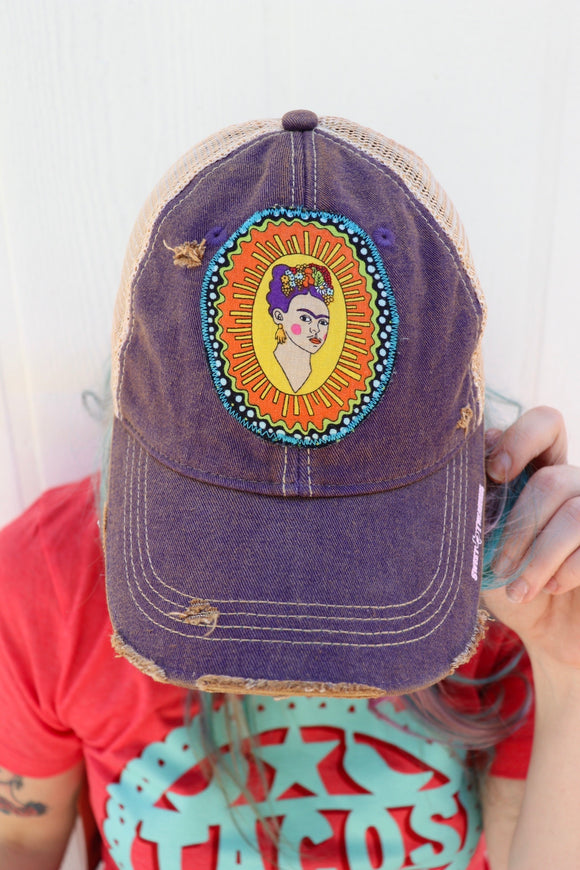 Frida Kahlo Dirty Trucker Hat