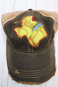 Softball Custom Dirty Trucker Hat