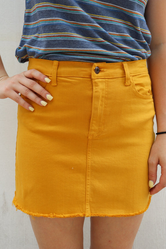 Rowlett Raw Edge Skirt