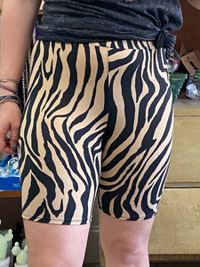 Tiger Stripe Biker Shorts