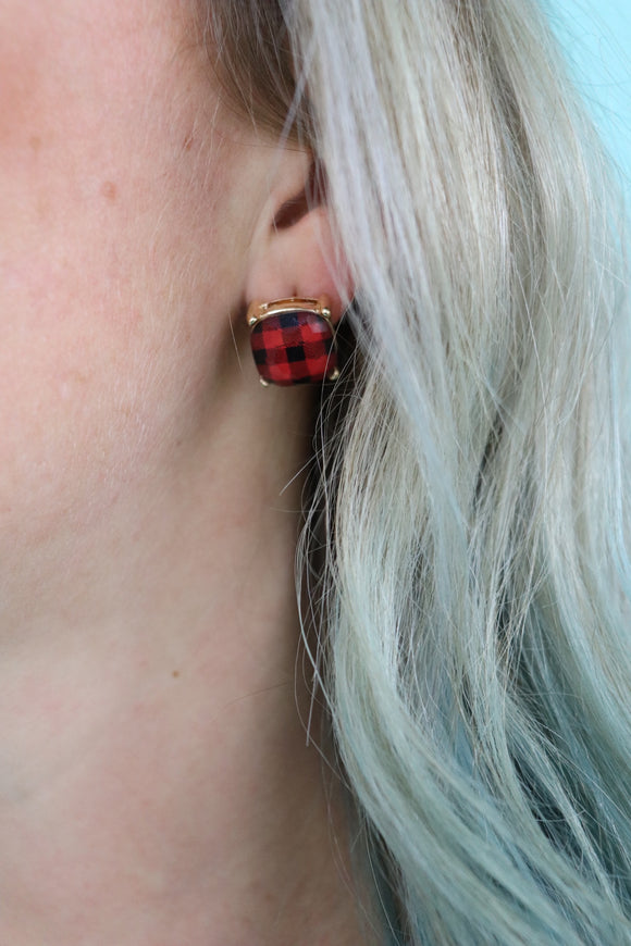 Patterned Stud Earrings [3 Styles]