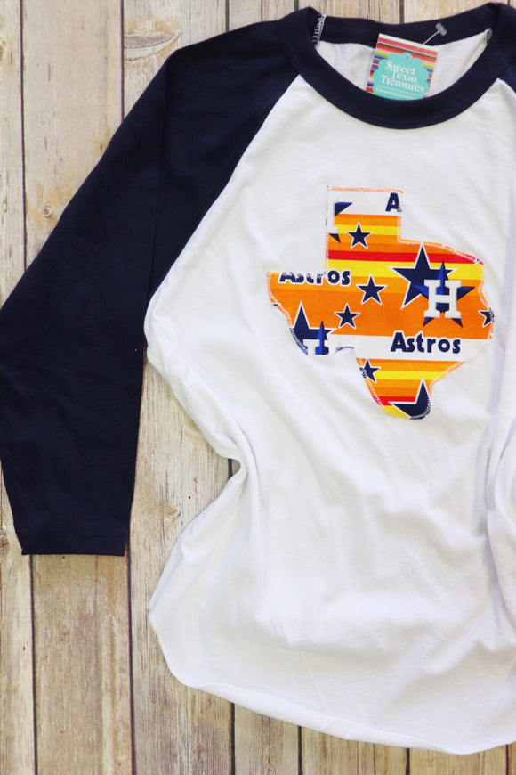 Throwback Astros Kids Baseball Tee