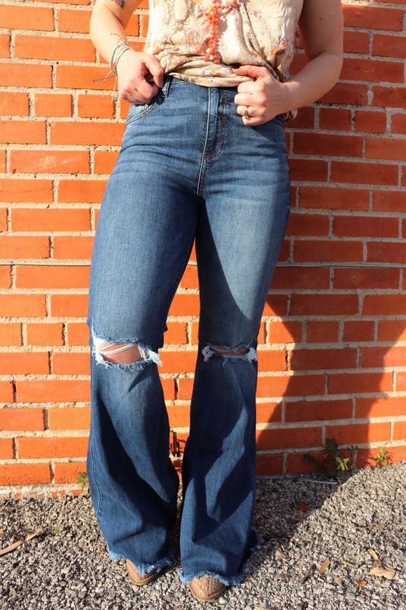 Highway2Hell Frayed Flare Jeans