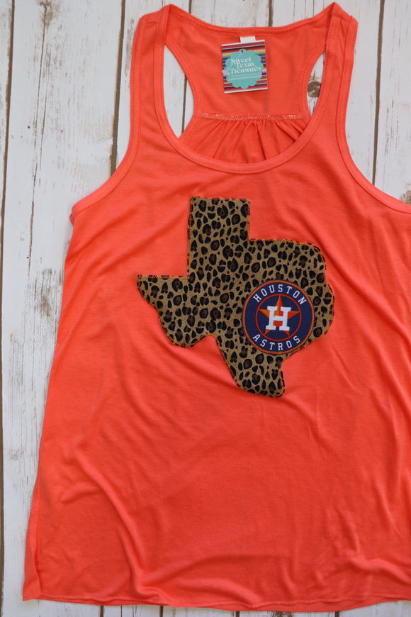 Leopard Texas Houston Astros Tank