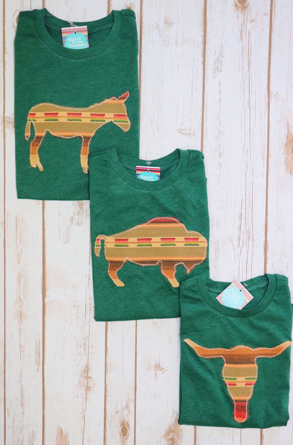 Kid's Mojave Serape Tee [Dark Green]