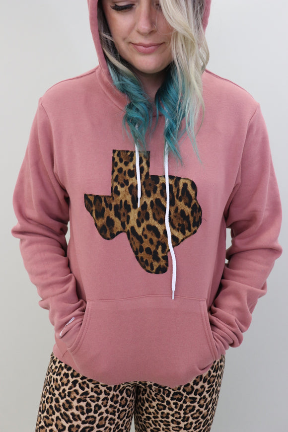 Big Cat Leopard Mauve Hoodie [Limited Edition]