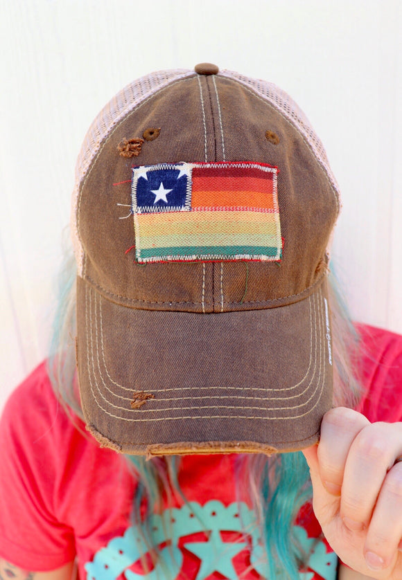 Salsa Serape Flag Dirty Trucker Hat