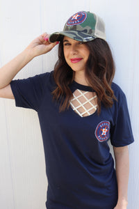 Astros Key Hole Tee