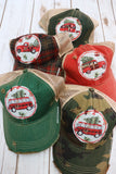 Christmas Car Dirty Trucker Hat