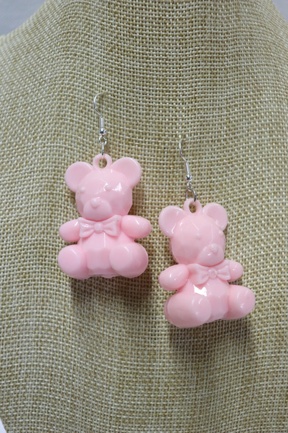 Pinky the Teddy Bear Earrings