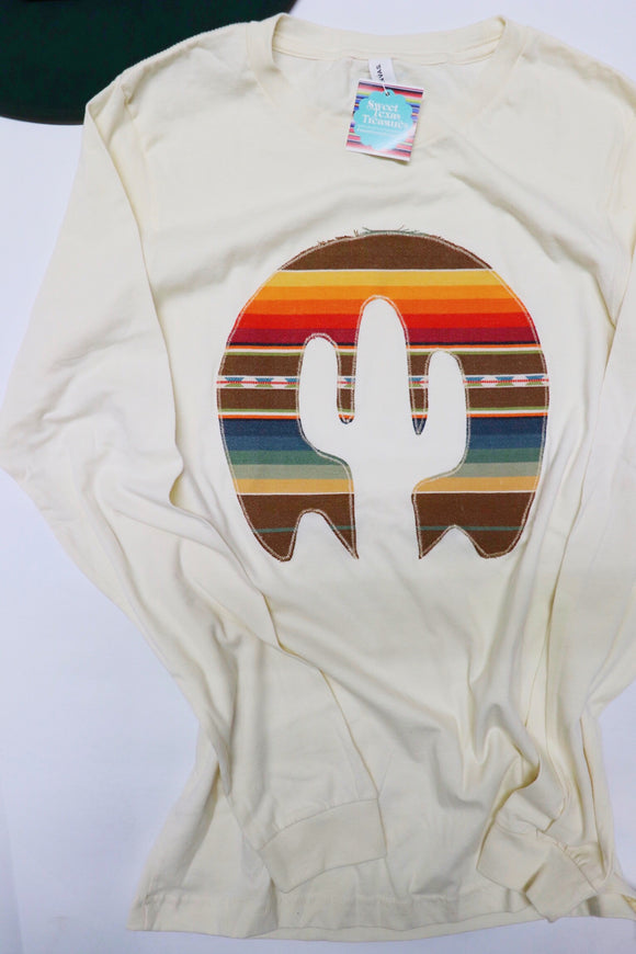 Sol Serape Long Sleeve Tee