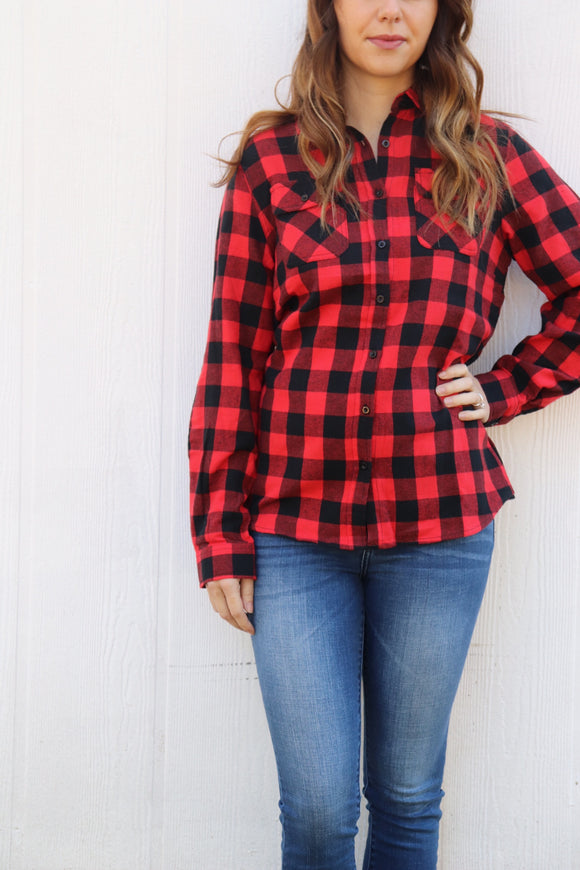 Bedias Buffalo Plaid Top