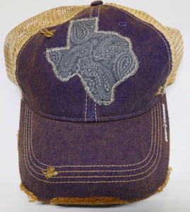 Silver Tooled Leather Dirty Trucker Hat