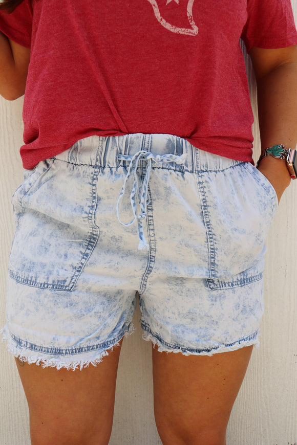 Astrothunder Acid Wash Shorts