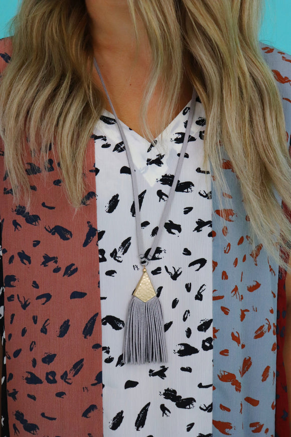 Last Call Southern Suede Necklace