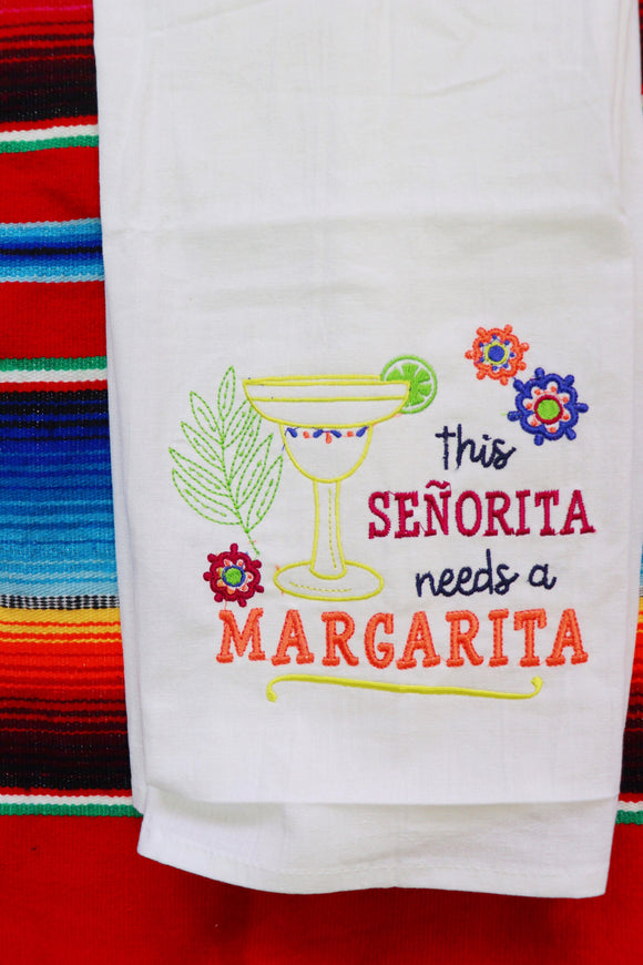 Senorita Margarita Tea Towel