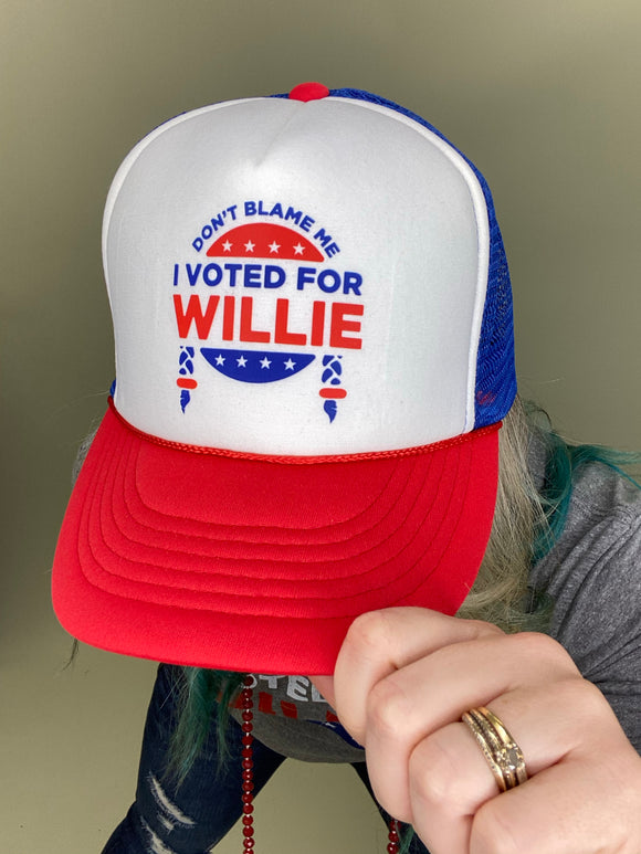 Blame Me Willie Trucker Hat