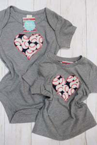 Baseball Heart Kid's Tee