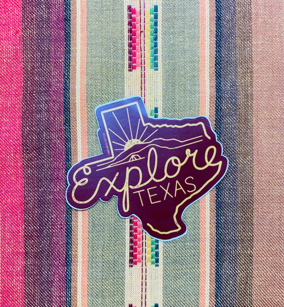 Explore Texas Sticker