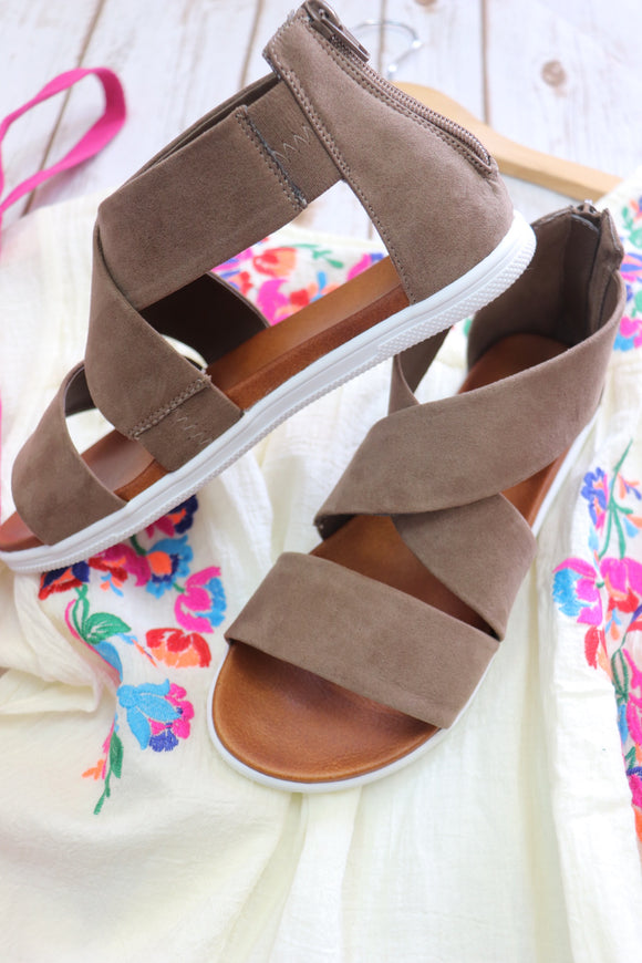 Last Call Blanco Bottom Sandals [Taupe]