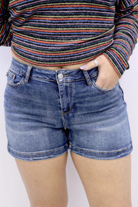 Queen Size Midway Midi Denim Shorts