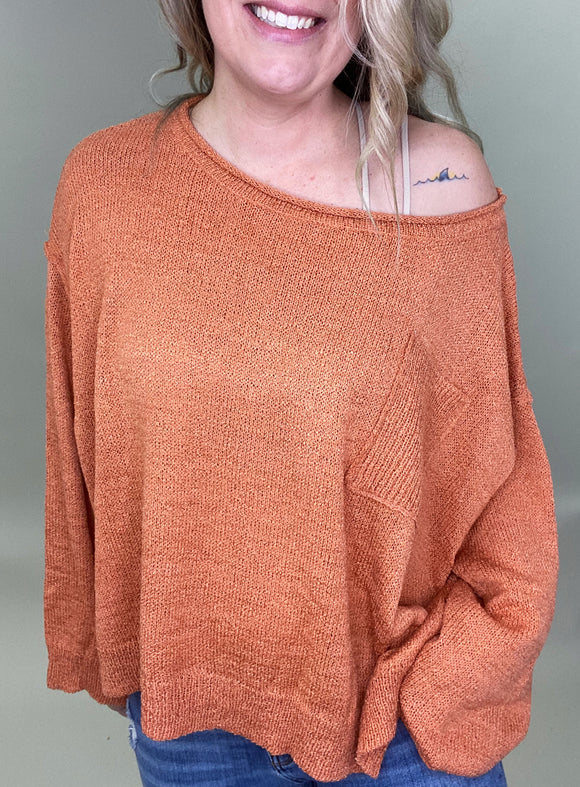 Dhelilah Drop Shoulder Sweater