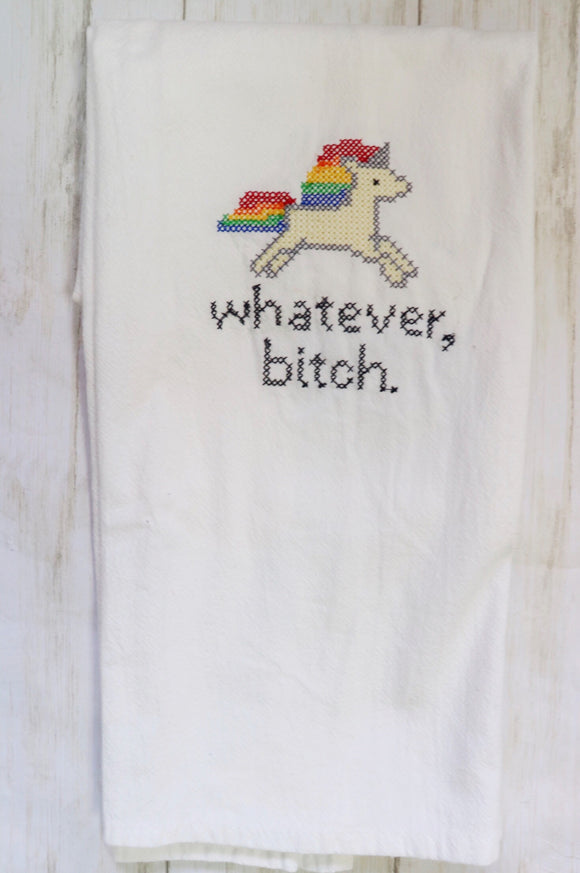 Whatever B*tch Unicorn Tea Towel