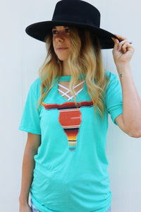 Playa Serape Key Hole Tee